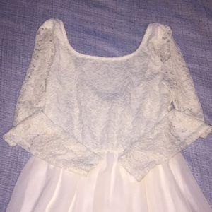 stylish white lace dress